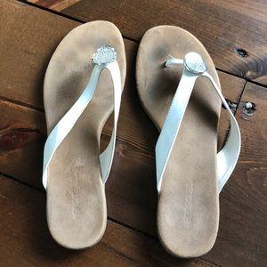 White Aerosoles sandals